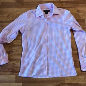 Brooks Brothers pink gingham button-up shirt